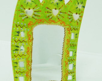 """""""Vanity mirror ' Crown lime"""" 35 X 20 painting on wood-coating for the bathroom, bedside, office, it will bring"""
