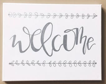 Welcome Canvas Sign