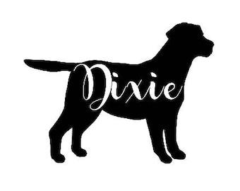 Labrador Retriever Silhouette Customized Decal Dog Sticker