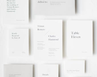 Minimal and Simple Typography Invitation / Elizabeth Suite