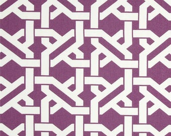 Grape purple and white upholstery fabric American design