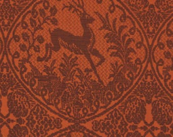 Coffee Free Spirit DOWRY Lineage and brick red patchwork fabric