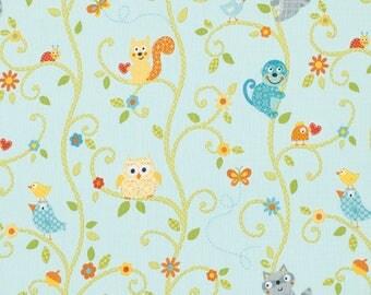 HAPPI by Dena pwdf147 blue kids patchwork fabric