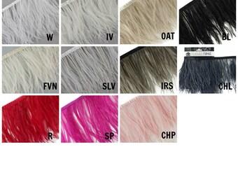 1 YARD Ostrich Feather Fringe - FOO5YD