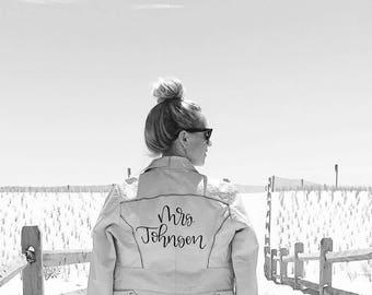 Custom Bride Leather Jacket