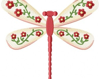 Machine Embroidery Design - Dragonfly #06