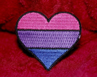 LGBT Bisexual Pride Patch - 2 inch