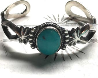 Navajo Sterling Cuff by Harrison Bitsui