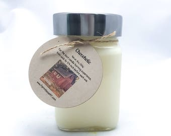 Chocoholic Woodwick Candle 9oz, Soy Candles Handmade, Chocolate Scented, Chocolate Candle, Homemade Candles, Soy Candles for Sale