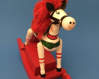 Vintage Musical Swaying Christmas Horse