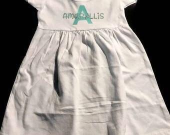 Personalized name dress , personalized dress , spring dress , summer dress , toddler dress , girls personalized dress , monogram dress