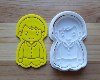 Politely Seated Boy wearing Traditional Korean Cloth Cookie Cutter and Stamp