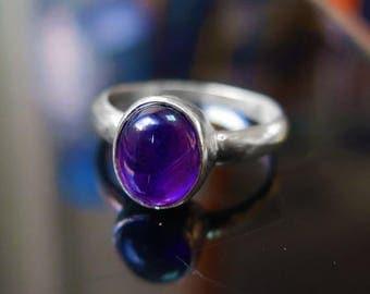 Sale - Amethyst Ring - Amethyst silver - February Birthstone - Birthstone Jewelry - Amethyst Jewelry - Silver Ring - Sterling Silver -