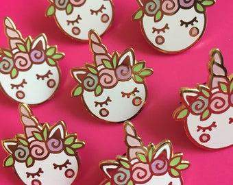 SALE-Unicorn Macaron Enamel Pin