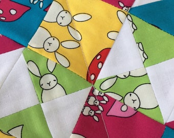 Patchwork Quilt // Baby Blanket // Play Mat // Doll Blanket // Snuggle