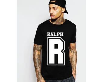 Large Letter and name printed t shirt