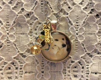Yellow Lab Charm Pendant Necklace/Lab Charm Necklace/Yellow Lab Jewelry/Yellow Lab Pendant/Dog Jewelry/Dog Pendant/Dog Necklace