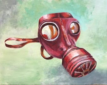 Gas Mask in Pink