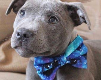 Galaxy bow tie, Dog bowtie, Cat bowtie, Dog accessories, Cat accessories, Dog fashion item, bowtie, bow-tie