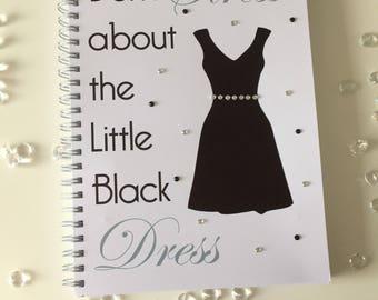 Slimming World Friendly - Christmas Food Planner Diary - Diet Tracker - Food Log - 8 Week / 12 Week Planner - Christmas Little Black Dress