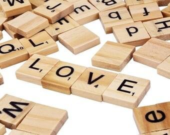 Wooden Scrabble Tiles, Scrabble Tiles, Wooden Letters, Scrabble Letters, Wood Scrabble Pieces, DIY Crafts, Wood Embellishments, Wood Letters