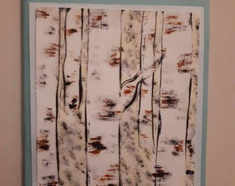 Birch tree holiday card