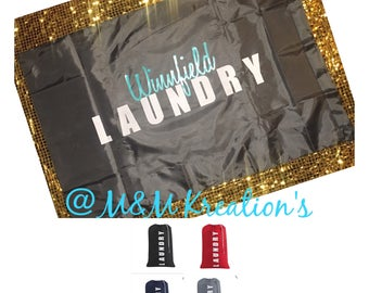 Personalized College Laundry Bag