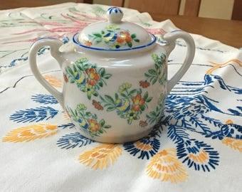 Vintage Japanese Sugar Bowl / Floral Vintage Sugar bowl / Floral Container