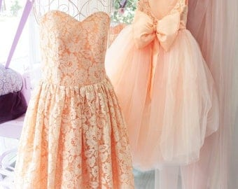 Outfits Mother Daughter Dresses, Mommy and Me Dress Matching, Mother Daughter Matching Outfit Matching Dress, Matching Dresses Lace Peach