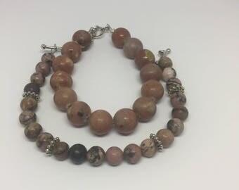 Two stackable bracelets