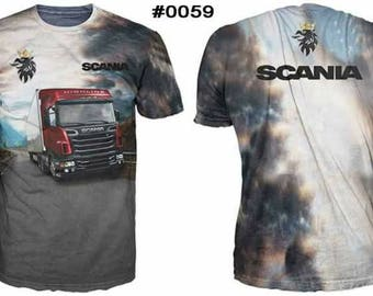 New ultramodern 3D  High Quality Scania Truck   Men's T-shirt