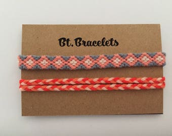 Friendship bracelets straps grey/Pink/White 2.00