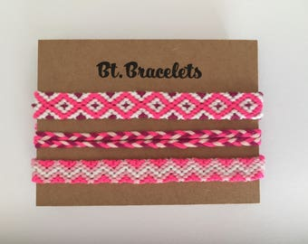 Set of 3 hot pink straps 4.50 friendship