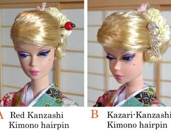 Doll kimono hair pins ( Kanzashi )