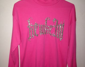The Kewke3w Pink Vintage Embroidered Long Sleeves Shirt