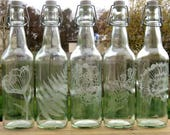 Water Bottle - Glass Bottle - Zero Waste - Reusable - Etched Glass Bottle - Glass Water Bottle - Eco Friendly Gift - Etched Water Bottle