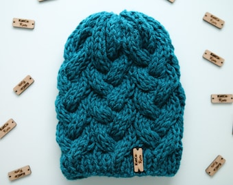 Ready to Ship | 3 Colors | Cabled Beanie, Textured, Thick, Double Layered