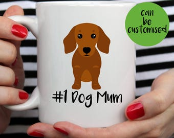 No 1 Dog Dad Dachshund Mug   Cute Mug    Dog Mom   Dog Mum   Dog Mug   Wiener Mug   I Love My Dachshund Mug   Dachshund Mug   Dachshund Gift