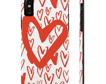Plenty O' Hearts Valentines IPhone X 10 Ten 6 6s 7 Plus  8 Plus Tough Phone Case