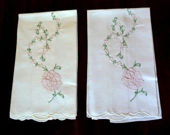 Vintage Linen Guest Towels