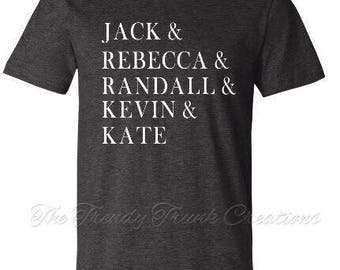 This is us , this is us tv show , this is us shirt, Jack Pearson, Rebecca Pearson, big three , Kate Pearson, Kevin Pearson, Randall Pearson