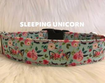 Sleeping Unicorn: girl dog collar