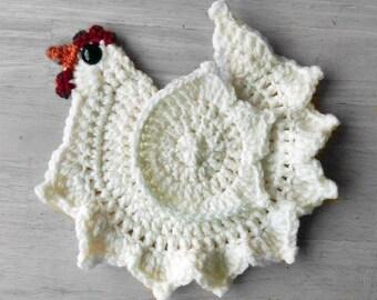 Crochet Chicken Pattern Pottholder
