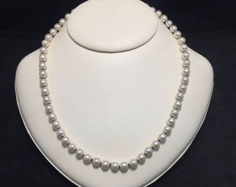 Antique Miriam Haskell Baroque Faux Pearl Necklace 1930's