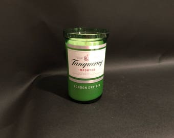 1 Liter vs 750ml  Tanqueray Candle London Dry Gin Bottle Soy Candle. Made To Order !!!!!!!