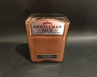 750ML Jack Daniels Candle Gentleman Jack Tennessee Whiskey Bottle Soy Candle. Made To Order