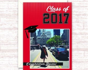Personalized Graduation Card- with Photo