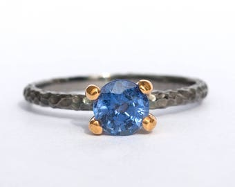 Blue Sapphire Ring, Gemstone Ring ,Sapphire Engagement Ring, Unique Silver Ring, Bridesmaid Ring, Vintage Sapphire Ring, Birthstone Ring