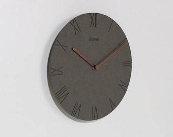 Minimal Clock/concrete Clock/wooden Minimal Decor Clock/wood Scandinavian  Clock/wall