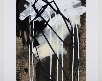 Original abstract illustration, no. 0653, mixed media on paper, 35x50cm. 2017